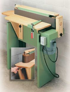 shop-built edge sander woodworking plan