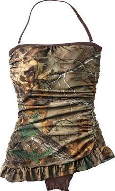Realtree Girl® Women's Retro Shirred Bandeau One-Piece Swimsuit : Cabela's Camo Swimwear, Camo Swimsuit, Camo Bikini, Country Girl Style, Country Girls, My Style, Southern Style, Country Life, Retro Style