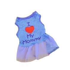 Summer Apparel Puppy Dog dog pet clothes i love my daddy dots print vest sleeveless dog t-shirts apparel ** More info could be found at the image url.