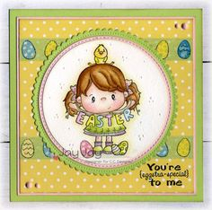C.C. Designs Pollycraft Chickie, Sweet Spring Sentiments, C.C. Cutters Circle Die, C.C. Cutters Scalloped Circle Die