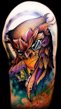 Cool Owl Bird Tattoos