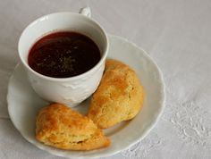 Red Borsch With Delicious Meat Pie