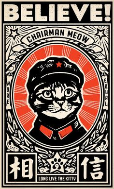 Chairman Meow: Some Animals Are More Equal Drunk Cat, Arte Punk, Sketch Manga, Propaganda Art, Graphisches Design, Matchbox Art, Grafik Design, Oeuvre D'art, Japanese Art