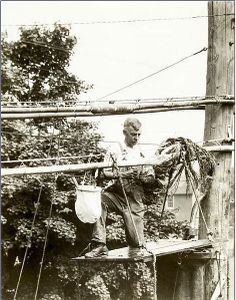 telephone cable splicer | Cable Splicer 1929 | Flickr - Photo Sharing! Telephone Line, Vintage Telephone, Electrician Humor, Electrical Lineman, Journeyman Lineman, Power Lineman, Utility Truck, Water Powers, Phone Companies