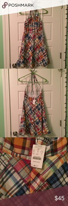 NWT J. Crew dress New with tag madras plaid halter dress J. Crew Dresses