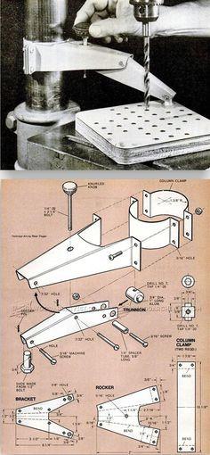 DIY Drill Press Hold Down - Drill Press Tips, Jigs and Fixtures | WoodArchivist.com