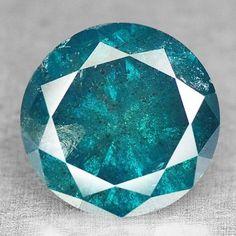 1.16 Ct Wow !! Terrrific Fancy Sea Blue Round Brilliant Cut Natural Diamond