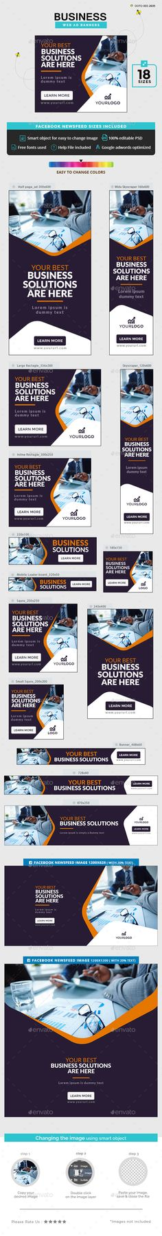 Business Banners - #Banners & Ads Web Elements Download here: https://graphicriver.net/item/business-banners/20016659?ref=alena994
