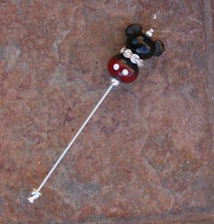 Mickey Mouse Style Stick Pin Disney Inspired by TheGlassPixie