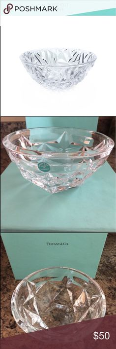 ❌FIRM PRICE❌Tiffany Rock Cut Crystal Bowl Beautiful, new crystal bowl in box. Tiffany & Co. Other