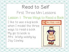 School Is a Happy Place: The Daily Five: The Big Three (Mini Lessons to Launch Read to Self and a FREEBIE)