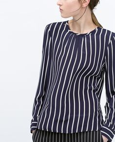 PRINTED SHIRT WITH CONTRAST EDGING-Tops-WOMAN | ZARA United States