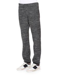 Melange Terry Jogger Pants, Gray
