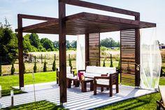 Small Garden Gazebo, Small Pergola, Wood Pergola, Modern Pergola, Pergola Canopy, Pergola Attached To House, Pergola With Roof, Outdoor Pergola, Backyard Pergola