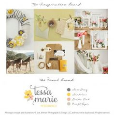Branding Boards | Jane Johnson Design: Boutique Marketing Design for Photographers...more pretty things!