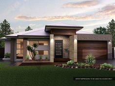 House facade design single story 44 Ideas for 2019 Style At Home, Modern House Plans, Modern House Design, Facade Design, Exterior Design, Suburban House, Modern Bungalow, Facade House, House Facades