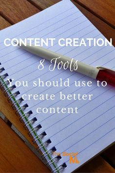 8 Tools to help you to create better content. http://blog.thesocialms.com/content-creation-8-tools-you-should-use-to-create-better-content/