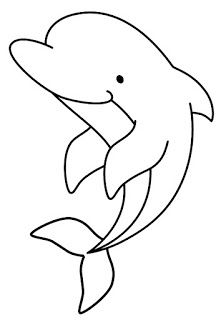 Dolphin- Onesie or burp cloth decorating template Applique Templates, Applique Patterns, Applique Designs, Quilt Patterns, Art Drawings For Kids, Drawing For Kids, Easy Drawings, Art For Kids, Simple Animal Drawings