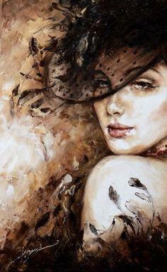Painting People, Woman Painting, Painting & Drawing, Images D'art, Art Visage, L'art Du Portrait, Cross Paintings, Face Art, Beautiful Paintings
