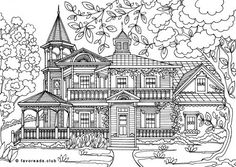 Stunning Coloring Page from Victorian Times!
