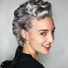 Short Curly Silver Hairstyle