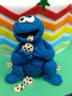 Child's Cake Cookie Monster Sculpture -Jo's Custom Cakes and Catering