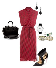 """Dinner out"" by cgraham1 on Polyvore featuring T By Alexander Wang, Christian Louboutin, Givenchy, Paolo Costagli and Rosendahl"