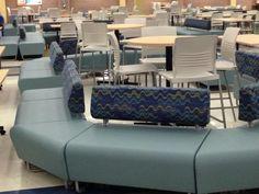 #Hub and #striveseating with #Pallas fabrics. Lexington high school cafeteria. Beautiful. @KItweets #iSpyKI