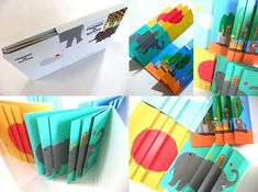 Katsumi Komagata, Little eyes Nº Friends in nature (fun for children) Libros Pop-up, Tunnel Book, Accordion Book, Paper Engineering, Ecole Art, Makeup Box, Pop Up Cards, Journal Covers, Book Binding