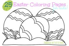 25 {free} Printable Easter Coloring Pages for Kids!