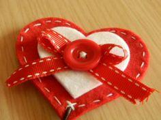 segnalibro a cuore in feltro feltro,bottoni,cotone feltro lavorato,cucito creativo