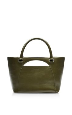 Medium Moon Leather Tote in Olive by J.W. Anderson - Moda Operandi