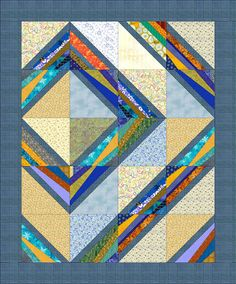Do you have a lot of scraps, strips and chunks of fabric hanging around your sewing room? Who doesn' Merry May and Linda Hahn have a designed a string quilt in that will help you use up your Scrappy Quilts, Easy Quilts, Mini Quilts, Quilt Baby, Quilting Projects, Quilting Designs, Quilting Ideas, Modern Quilting, Lap Quilt Patterns