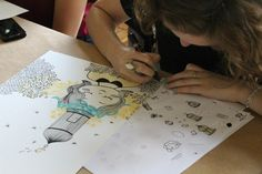 """Workshop """"Uma caneta na mão... Desenhos, texturas e padrões"""""""