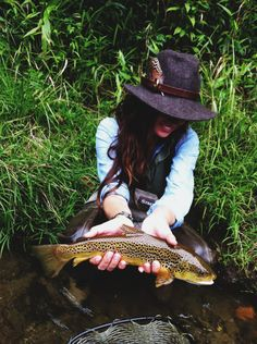 love this picture. fly fishing woman. awelltraveledwoman.com