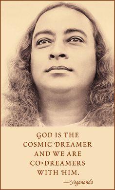Yogananda and the Cosmic Dreamer Spiritual Life, Spiritual Awakening, Spiritual Quotes, Wisdom Quotes, Life Quotes, Awakening Quotes, Yogananda Quotes, Self Realization, Spiritual Inspiration