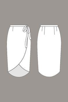 Reese Wraparound Skirt - Named