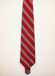 Robert Talbott Red Gold Stripe Finest 100% Silk Mens Dress Neck Necktie Tie 58in #RobertTalbott #Tie