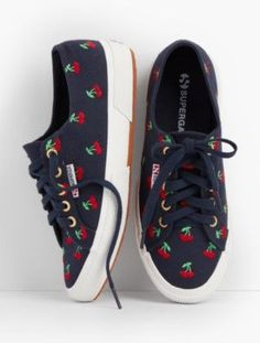 Superga Sneakers Cherry Embroidered
