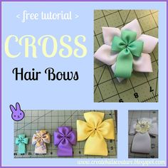 Create Kids Couture: Beautiful Cross Hair Bow, Easter hair bow