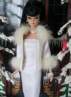 Silkstone Barbie in Arina's fashion creations. This Photo was uploaded by carolr5