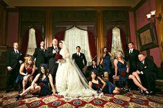 Wedding group portrait photo by Amelia Lyon Photography