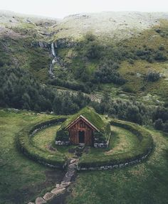 Stay in this Turf house in Iceland Credit: Beautiful World, Beautiful Places, Trees Beautiful, Nature Aesthetic, Viking Aesthetic, Cabins In The Woods, Garden Cottage, Kirchen, Abandoned Places