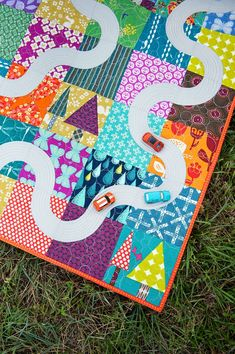 I Spy with a Road - Stitchery Dickory Dock quilt play mat