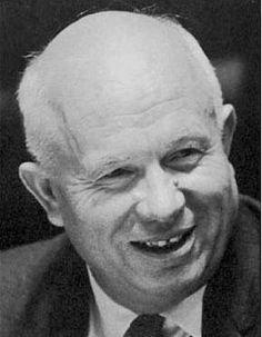 Nikita Sergejevitj Chrusjtjov (ryska: Ники́та Серге́евич Хрущёв (info)), född 5 april (g.s.)/17 april (n.s.) 1894 i Kalinovka i guvernementet Kursk i Kejsardömet Ryssland, död 11 september 1971 i Moskva i Sovjetunionen (i nuvarande Ryssland), var en sovjetisk politiker, parti- och regeringschef. Han var generalsekreterare i Sovjetiska kommunistpartiets centralkommittés politbyrå och därmed Sovjetunionens ledare från 7 september 1953 till 14 oktober 1964.