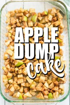 } - This Apple Dump Cake Recipe is an easy dessert using fresh apples or apple pie filling, cake mix an -Apple Dump Cake {Easy & Delicious!} - This Apple Dump Cake Recipe is an easy dessert using fresh a. Apple Dessert Recipes, Dump Cake Recipes, Apple Crisp Recipes, Köstliche Desserts, Apple Recipes With Fresh Apples, Easy Apple Pie Recipe, Desserts With Apples, Apple Deserts, Homemade Desserts