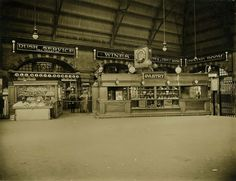 Central Railway Station, Sydney - fruit and pastry stands