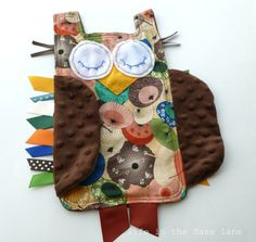 Chinoiserie Baby Gift OWL Ribbon Tag Blankie