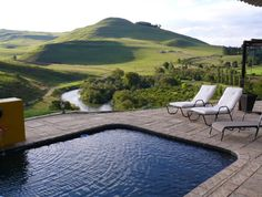 Book your stay at Amazian Mountain River Lodge in Underberg, South Africa. River Lodge, Commercial Property For Sale, Mountain View, Travel Around, Sun Lounger, South Africa, Life Is Good, Real Estate, Places