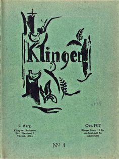 """In 1916 Axel Salto got in touch with famous artists as Picasso and Matisse in Paris. Very inspired by french art life, he spent a small heritage to publish an avantgarde art magazine """"Klingen"""" (The Edge or rather The Blade) until he ran out of money 1920. The magazine is still considered essential to understanding modernism in Danish art. Johannes Bucholtz published 4 poems during the magazine's short life time. Later he spoke of the magazine as cruzial to him and his appreciation of new…"""